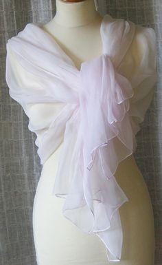 Accessoires - Chiffonschal 90x180 cm - rosa - ein Designerstück von GABIK bei DaWanda