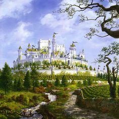 Su fortaleza es Altojardín, situada a la vera del río Mander y son los señores de unas tierras conocidas como El Dominio. Los Tyrell llegaron a poniente antes de que lo hiciera Aegon I. En principio eran los jardineros y por lo tanto cridados de los reyes de El Dominio.