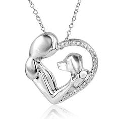 ASPCA TenderVoices Diamond Dog Love Pendant 1/8ctw - Item P128643B-SSSW6   REEDS Jewelers
