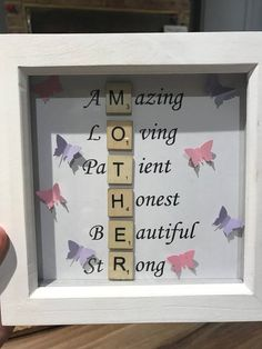 4 simple mothers day cards - hobbycraft Last Minute Mothers Day Cards to Make DayItems similar to Mother 's Day Frame Scrabble Frame on EtsyItems similar to Mother 's Homemade Mothers Day Gifts, Diy Gifts For Mom, Mothers Day Crafts For Kids, Presents For Mom, Mothers Day Cards, Mothers Day Scrabble, Daddy Gifts, Mother Birthday Gifts, Diy Birthday