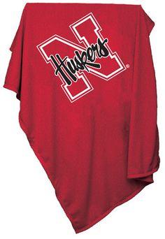NCAA Nebraska Sweatshirt Blanket