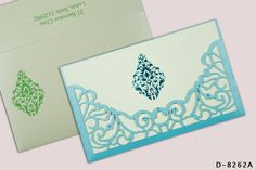This CYAN blue shimmery Laser Cut wedding card growing the glam of wedding 2019 Catalogue by A2zWeddingCards. This Indian wedding invitation with sea green inserts crafted by Damask theme will make your ceremonies and celebrations unforgettable!  #weddingcards #lasercutweddingcards #A2zWeddingCards #weddinginvitations #damasktheme #indianweddinginvitation Indian Wedding Cards, Indian Wedding Invitations, Scroll Invitation, Cyan Blue, Damask, Celebrations, Custom Design, Sea, Make It Yourself