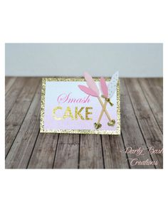 Pink Ombre and Gold Foil Print Elegant by PartyBashCreations