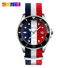 Nylon Strap 30M Waterproof Quartz Wristwatches
