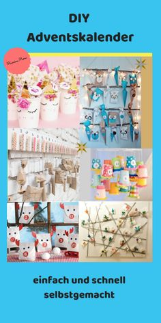 Advent calendar quickly and easily homemade. Many ideas for your DIY advent calendar for your child from toilet paper rolls, paper cups, clothes pegs and much more . Make a DIY Advent calenda Homemade Advent Calendars, Diy Advent Calendar, Clothes Pegs, Toilet Paper Roll, Handmade Clothes, Your Child, Kids Outfits, Presents, Xmas