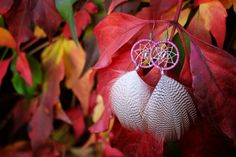 Lilac and Silver Dream Catcher Earrings by nZuriArtDesigns on Etsy