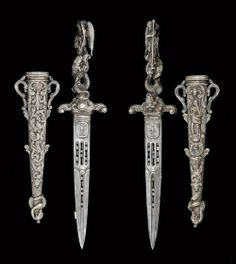 1870's - 1860's ceremonial dagger discovered in France