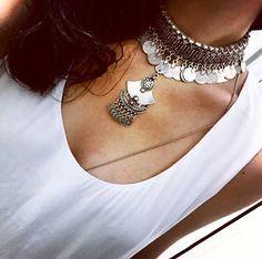 Gargantilha turca de volta aos estoques!  — Semi jóia linda garimpada na Turquia direto pra loja! Coleção especial de verão. Estoques limitados ❤