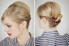 Got five minutes to do your 'do in the morning? We've got you covered! We've already shown you 15 of our favorite hair hacks for medium to long hair lengths, and now we're turning our attention to the shorties. If your hair barely dusts your shoulders or is chopped high and tight, you need to check out these 12 short hair hacks. Using minimal product and no blow dryers or curling irons, these no fuss hairstyles are seriously slick!