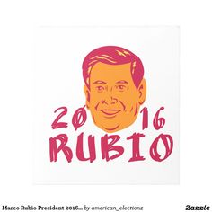 Marco Rubio President 2016 Retro Note Pad. Marco Rubio for President 2016 retro note pad with an illustration showing Marco Rubio, an American senator, politician and Republican 2016 presidential candidate crest with words Rubio 2016 done in retro sketch style. #Rubio2016 #republican #americanelections #elections #vote2016 #election2016