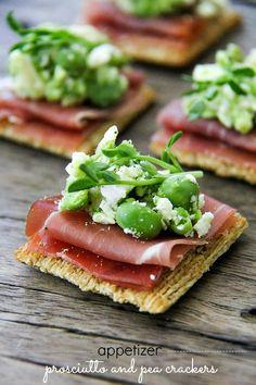 Appetizer Recipe: Prosciutto and Pea Crackers