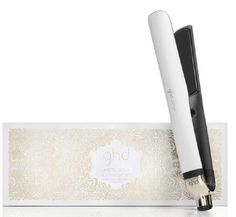 GHD Arctic Platinum White Styler Set with Roll Bag & Clips