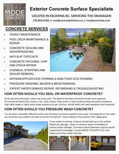 Concrete stains can be applied to any horizontal or vertical concrete surface. Deck Maintenance, Decorative Concrete, Stained Concrete, Pool Decks, How To Remove, Exterior, Outdoor Decor, Courtyards