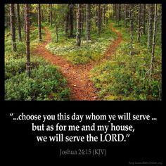 Joshua 24:15 Inspirational Image