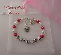 Personalized Angel Charm Bracelet Gift  For
