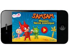 """Application pour enfant : """"SamSam mission héros cosmique"""" sur iPad, iPhone et Android Avec SamSam et Petit Poâ…"""