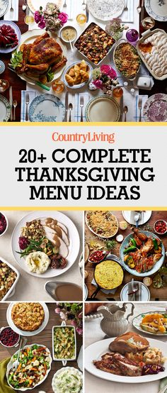 Whip up one of these soup-to-nuts Thanksgiving menus, or mix and match recipes for appetizers, dessert and everything in between. These easy-to-make complete thanksgiving menus allow even the most novice chefs to to cook for their families on Thanksgiving! No more popcorn and toast Charlie Brown!