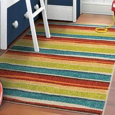 Carolina Weavers Innocence Collection Dreamy Stripe Multi Area Rug (3'11 x 5'5) - Free Shipping Today - Overstock.com - 16739467 - Mobile