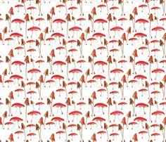 champignons_mignons fabric by nadja_petremand on Spoonflower - custom fabric