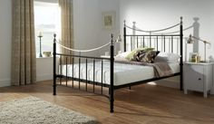 Shop the full range of metal bed frames from Bensons for Beds. Discover sleek designs, available in sizes and colours to suit your home. Find your bed frame today. Metal Bed Frame, Bedroom Vintage, Redecorate Bedroom, Black Living Room, Bedroom Interior, Adjustable Bed Frame, Black Metal Bed, Black Metal Bed Frame, Bed Frame