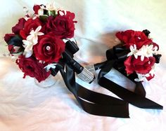 black red and white weddings - Google Search