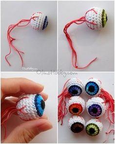 вязаный глаз крючком, сувенир halloween