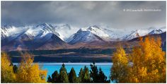 Autumn Blues; photograph by Dylan & Marianne Toh. Lake Pukaki, New Zealand