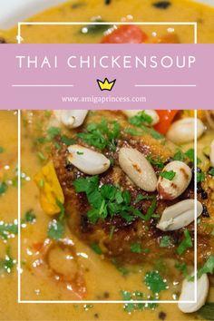 thailändische hühnersuppe, thai chickensoup, www.amigaprincess.com