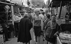 Berwick Street market, Soho, London, April 1961