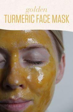 Golden Turmeric Face Mask - Numi Tea Garden Blog #HomemadeMoisturizer Acne Face Mask, Best Face Mask, Face Skin, Easy Face Masks, Diy Face Mask, Chocolate Face Mask, Turmeric Face Mask, Avocado Face Mask, Coconut Oil For Face