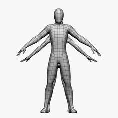 female male 3d model - Low Poly Base Mesh-Female/Male... by Cyfus