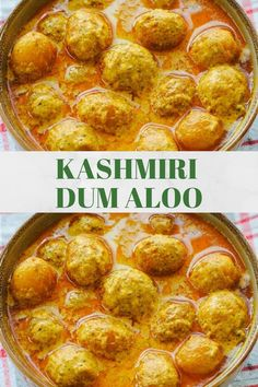 Kashmiri dum aloo is a tangy yogurt based potato gravy with spices like ginger, fennel, cardamom and Kashmiri red chillies. An authentic dum aloo recipe that's perfect with any Indian bread like naan! A vibrant and earthy meal aloo dum aloo Aloo Recipes, Curry Recipes, Veggie Recipes, Appetizer Recipes, Vegetarian Recipes, Cooking Recipes, Indian Appetizers, Indian Snacks, Veggie Food