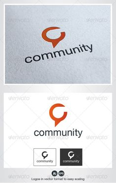 Community Logo - simple font face, small colored graphic element centered above.  Lurve.