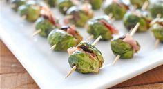 You either love 'em or hate 'em - Roasted Brussel Sprouts with prosciutto inside.