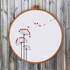 Modern Dandelion cross stitch pattern just uses very simple shapes and lines to create minimalist effect. A beautiful counted cross stitch design for beginners. PATTERN SPECIFICATIONS: Stitches : full cross stitch, back stitch Colors: DMC stranded cotton Hand Embroidery Stitches, Embroidery Hoop Art, Hand Embroidery Designs, Cross Stitch Embroidery, Cross Stitch Quotes, Cross Stitch Heart, Simple Cross Stitch, Cross Stitch Designs, Modern Cross Stitch Patterns