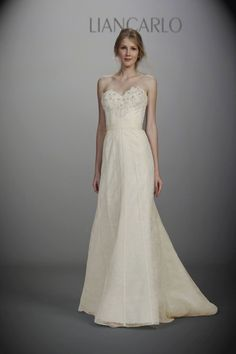 New wedding dresses by Liancarlo from the designer's Spring 2013 bridal runway collection. Wedding Dress 2013, Fall Wedding Dresses, Wedding Dress Styles, One Shoulder Wedding Dress, Wedding Gowns, Liancarlo Wedding Dresses, Bridal Gowns, The Five Year Engagement, Lovely Dresses
