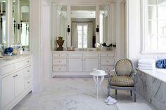 Bathroom, Beautiful Dream Bathroom Designs: Lovely Classic Style White Luxury Bathroom Design Features Beautiful Antique Decorations, Nice O...