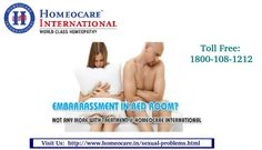 Sexual problems affects both male and female. Male are struggling with sexual problems due to erectile dysfunction, psychological problems, low libido and Hormone deficiency. Women are faces sexual problems due to low estrogen levels, depression and anxiety. Homeocare International has best qualified Homeopathy physicians to give long lasting cure from the Sexual disorders. Homeopathy treatment for sexual problems will not effect any side problems.