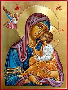 We have this icon of the Virgin Mary and Jesus as a child. It's important to my church because Virgin Mary had complete faith and God and told God that he could give her a child and she never questioned. I am orthodox Religious Images, Religious Icons, Religious Art, Catholic Art, Byzantine Icons, Byzantine Art, Madonna, Greek Icons, Religion