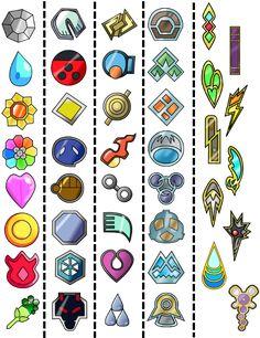 Can you name the Pokémon gym badges pictured below? Pokemon Birthday, Pokemon Party, Pokemon Sun, Pokemon Gym Badges, Pokemon Comics, Pokemon Craft, Pokemon Games, Tous Les Pokemon, Minecraft Beads