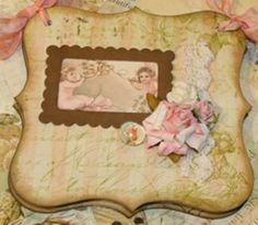 Shabby chic notepad with chipboard covers