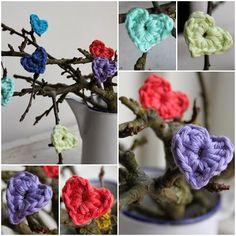 InHaken: Mini hartjes in frisse lente kleuren