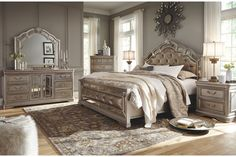 Shop for Queen Bedroom Sets at Royal Furniture. Our large selection, expert advice, and excellent prices will help you find Queen Bedroom Sets that fit your style and budget. Browse online or visit a local store today! Luxury Bedroom Sets, King Bedroom Sets, Queen Bedroom, Luxurious Bedrooms, Girls Bedroom, Luxury Bedding, Stylish Bedroom, Master Bedroom, Silver Bedroom