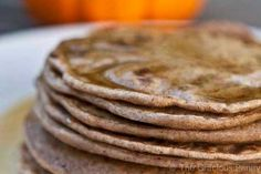 Clean Eating Pumpkin Spice Pancakes - use unsweetened almond milk and omit the maple syrup.