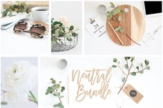 24 Neutral Stock Photos & Mockups - Product Mockups