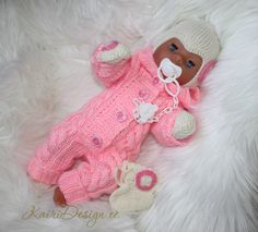KNITTING PATTERN, Baby Born doll jumpsuit, overall kntitting for doll, knitting for 18 inch baby doll, dolls romper making pdf instruction Aran Knitting Patterns, Hand Knitting, Baby Doll Clothes, Baby Dolls, Baby Born, Crib Shoes, Baby Steps, Stockinette, Baby Cribs
