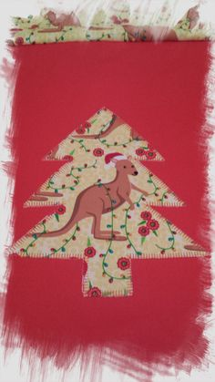 Christmas Tree Naïve Applique Machine Embroidery Design For Large Hoops by AnnesEmbroidery on Etsy