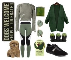 """""""People tolerated"""" by lujzazsu ❤ liked on Polyvore featuring Ray-Ban, Charli Cohen, adidas Originals, WithChic, Cole Haan, Charlotte Russe, Houbigant, GREEN, comfy and doggylove"""