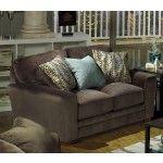 Jackson Furniture - Whitney Loveseat in Chocolate Fabric - 4397-02