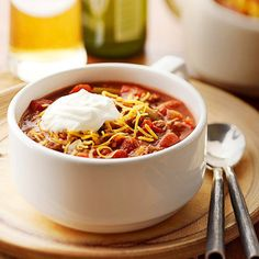 Here's our favorite Classic Chili recipe! Don't forget the sour cream and sprinkle of cheese! More chili recipes: http://www.bhg.com/recipes/chili/chili-recipes/?socsrc=bhgpin090713classicchili#page=4